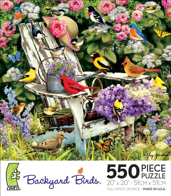 Backyard Birds - Adirondack Retreat Birds Jigsaw Puzzle