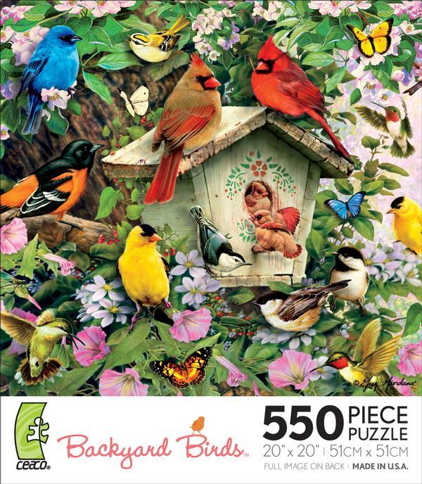 Backyard Birds Birdhouse Hideaway Birds Jigsaw Puzzle