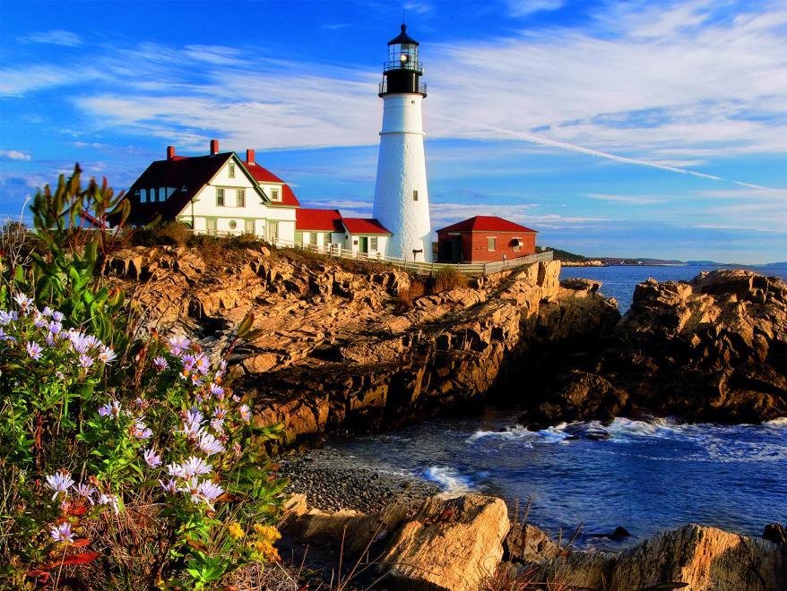 Portland Headlight, Maine, New England (Around the World) Lighthouses Jigsaw Puzzle