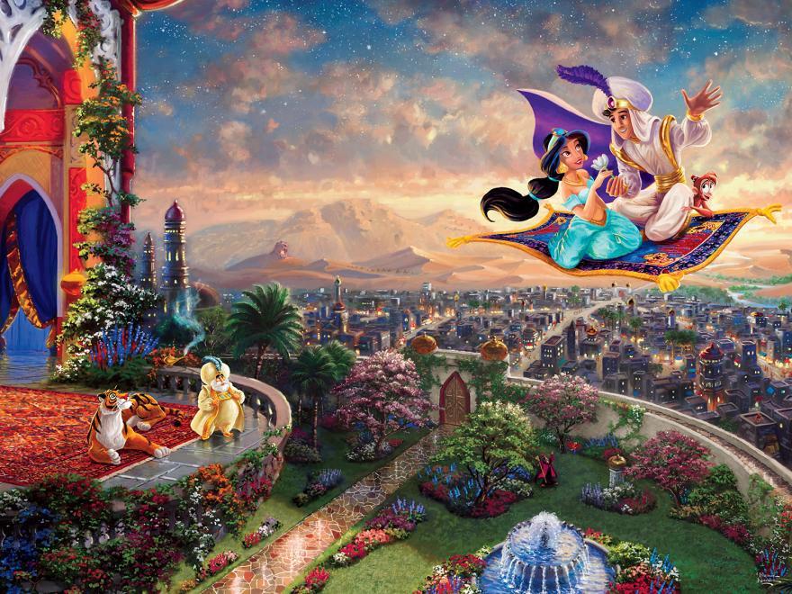 Aladdin Magic Carpet Ride Disney Jigsaw Puzzle