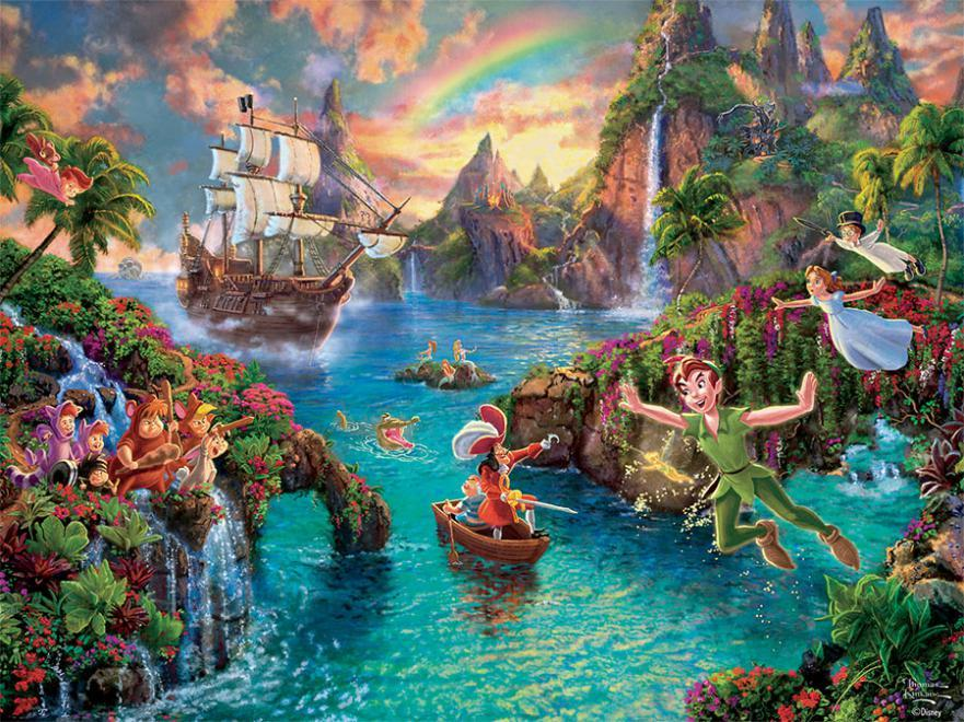 Peter Pan 750 Piece Thomas Kinkade Disney Dreams Jigsaw