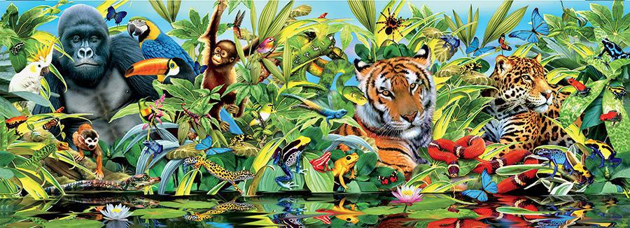 Jungle Panoramic Animals Jigsaw Puzzle