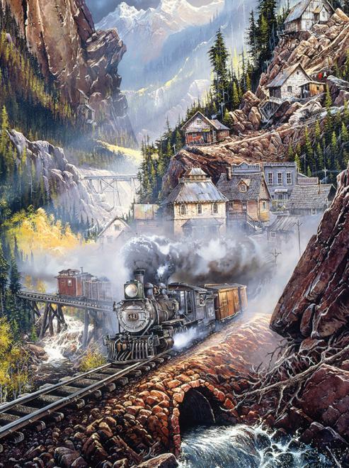 Silver Bell Run Trains Jigsaw Puzzle