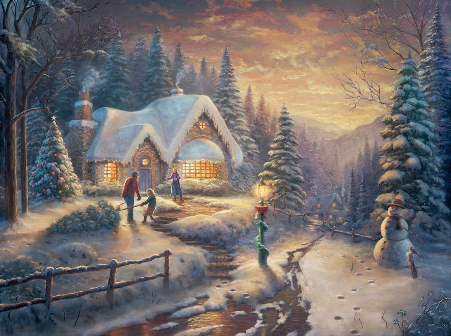 Country Christmas Homecoming - Scratch and Dent Winter Jigsaw Puzzle