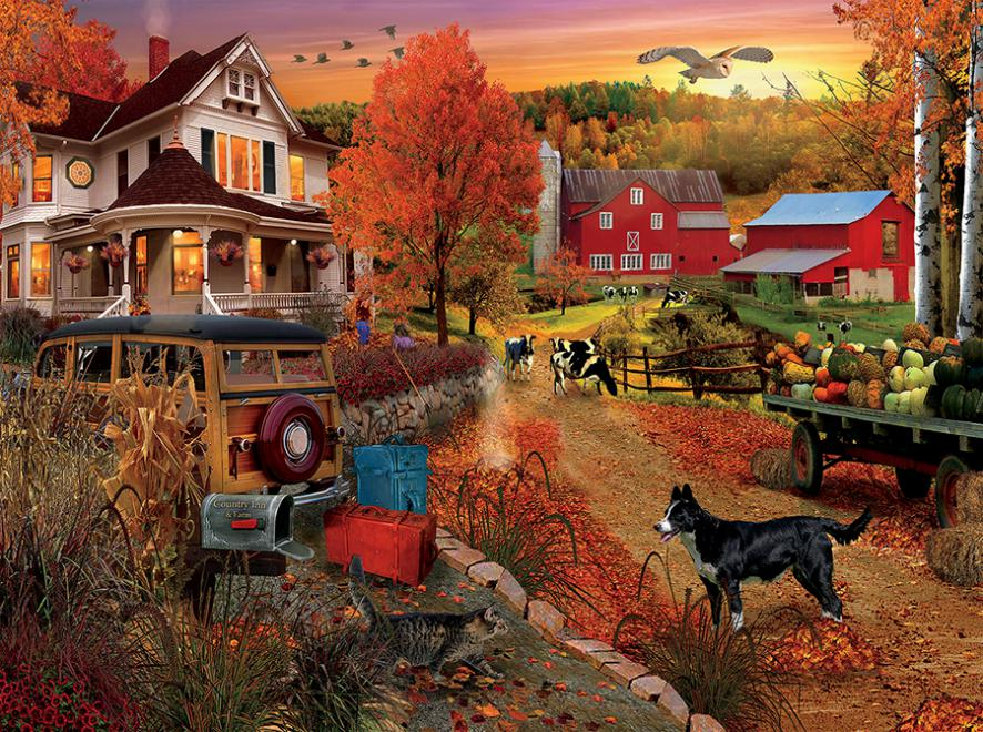 Country Inn and Farm - Scratch and Dent Farm Jigsaw Puzzle