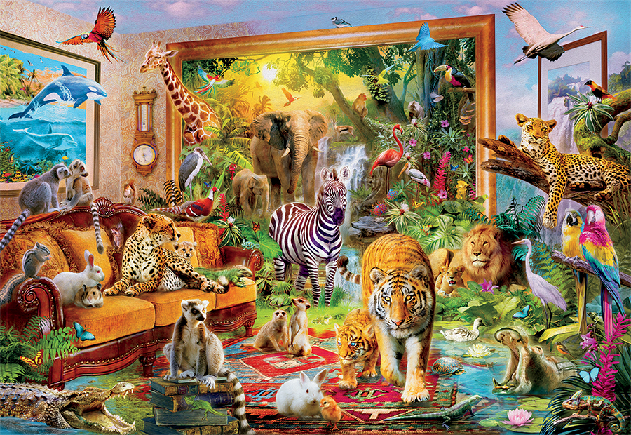 Coming to Room - Scratch and Dent Jungle Animals Jigsaw Puzzle