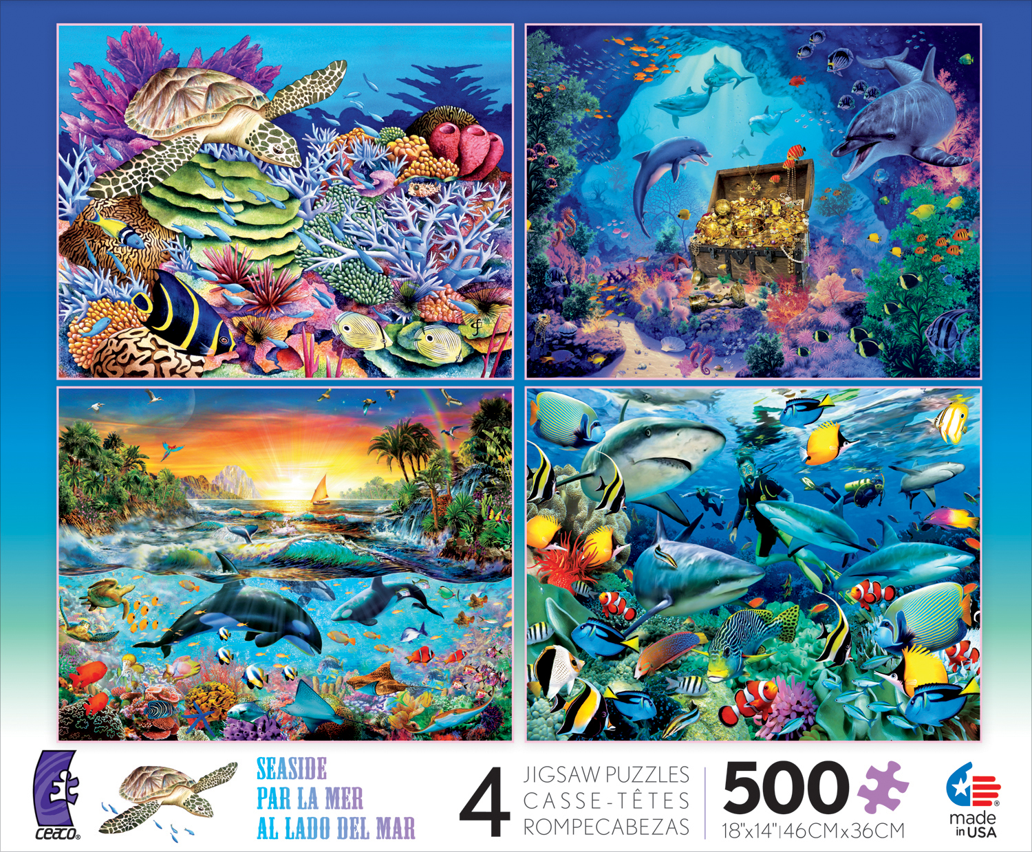 Seaside 4-in-1 Pack III Under The Sea Jigsaw Puzzle