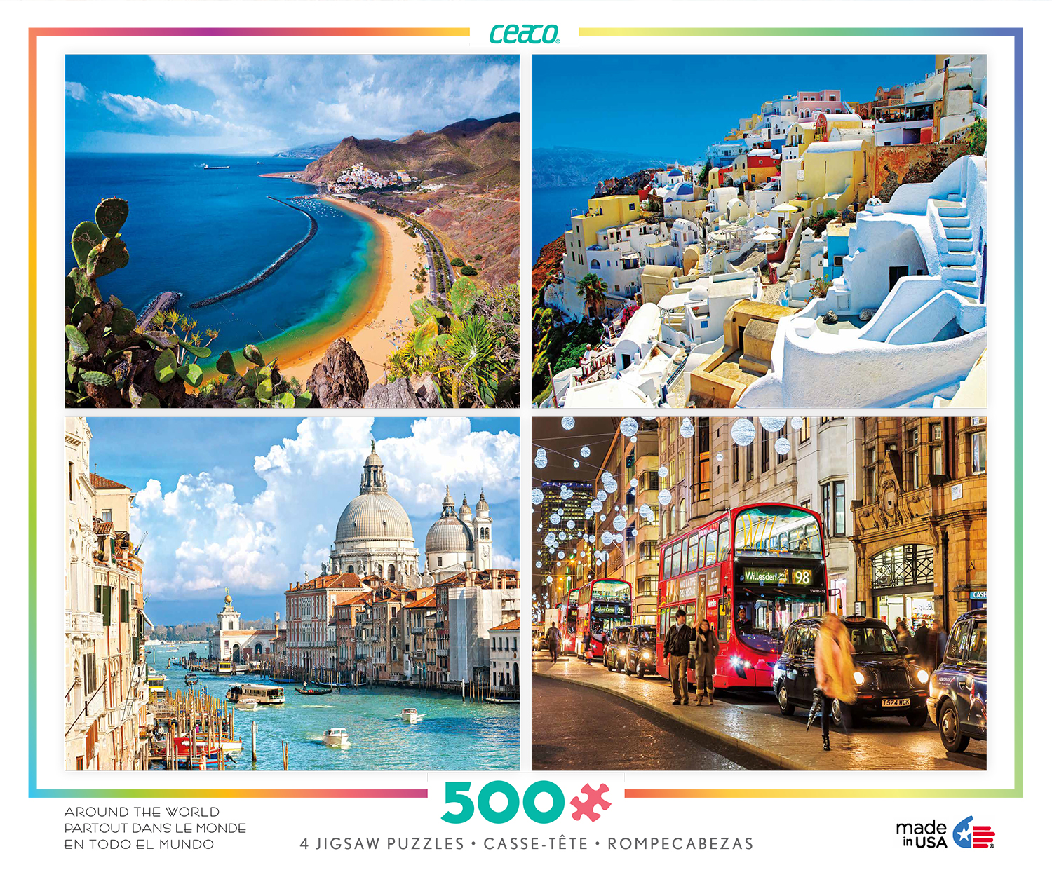 Around the World 4-in-1 - Scratch and Dent Travel Jigsaw Puzzle