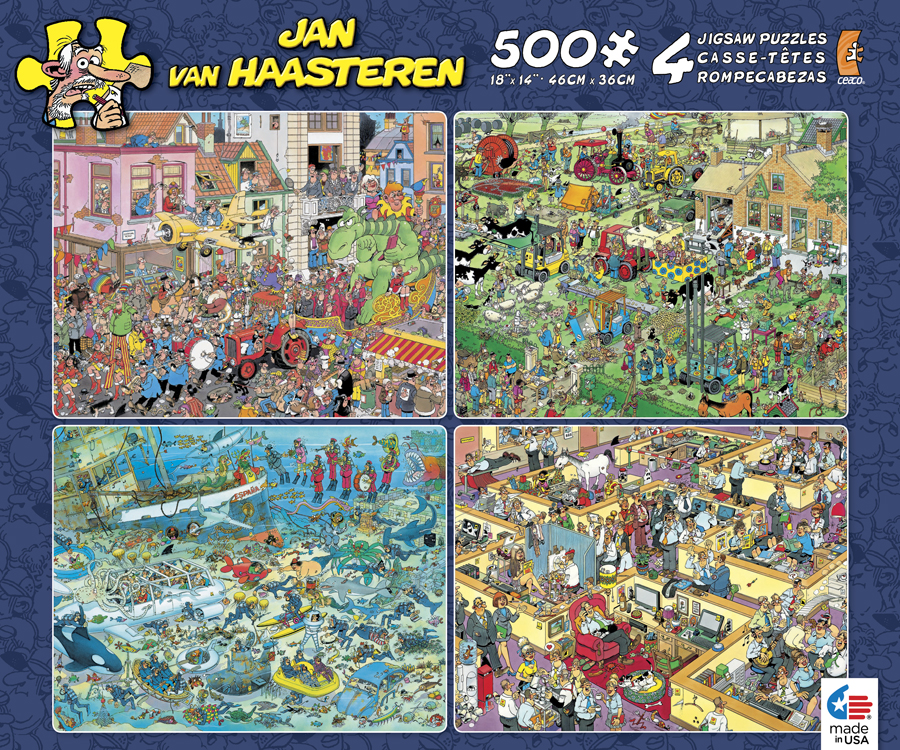 Jan van Haasteren 4-in-1 Pack II - Scratch and Dent Skyline / Cityscape Jigsaw Puzzle