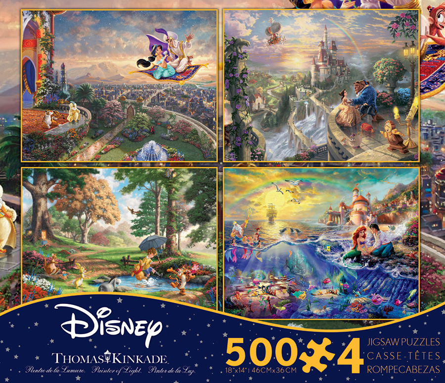 4 In 1 Thomas Kinkade Disney Dreams Multi Pack Jigsaw