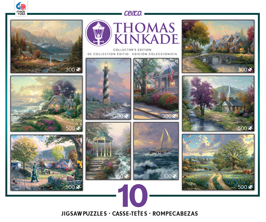 Thomas Kinkade 10 In 1 Collector S Edition Jigsaw Puzzle