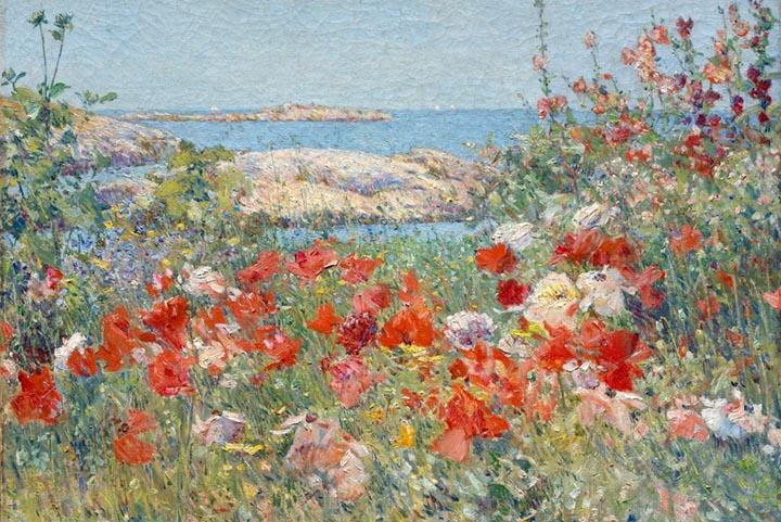 Celia thaxter's Garden, Isles of Shoals, Maine by Childe Hassam Fine Art