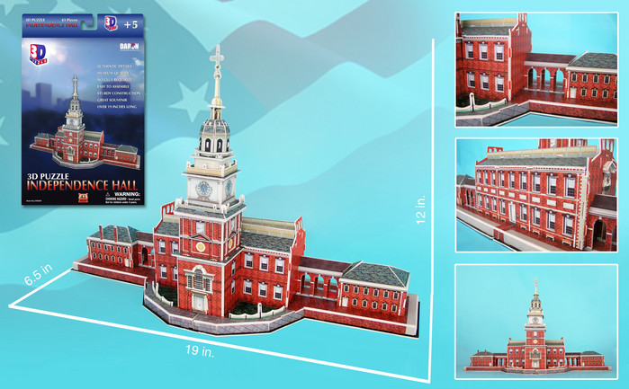 Independence Hall Philadelphia Landmarks / Monuments Jigsaw Puzzle