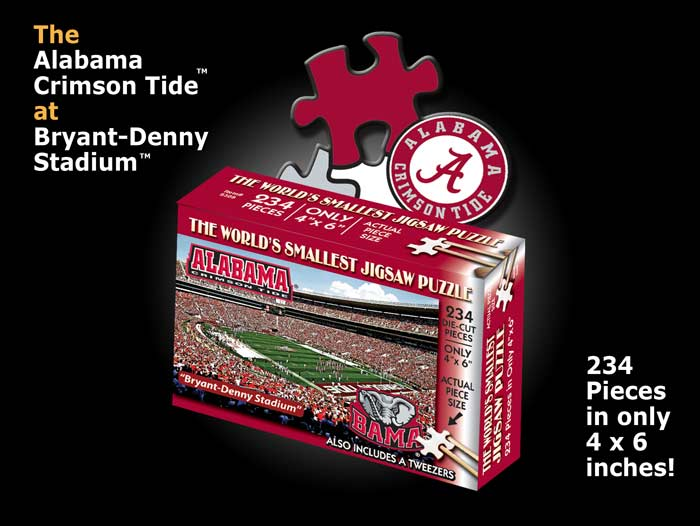 World's Smallest Puzzles - Alabama Sports Jigsaw Puzzle