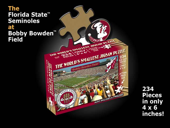 World's Smallest Puzzles - Florida State Sports Jigsaw Puzzle
