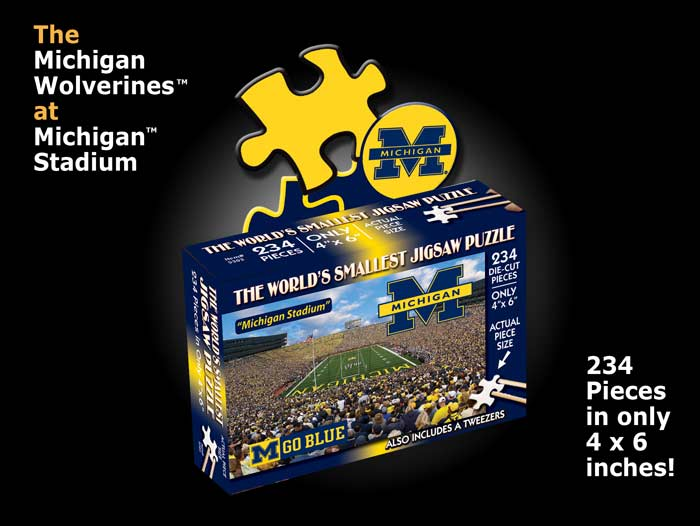 World's Smallest Puzzles - Michigan Sports Jigsaw Puzzle