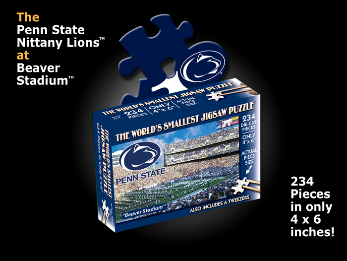World's Smallest Puzzles - Penn State Sports Jigsaw Puzzle