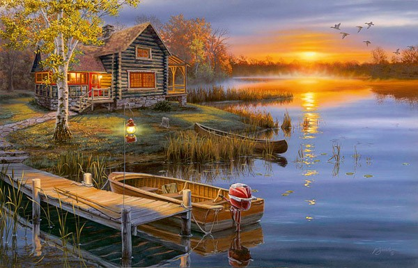 Autumn At The Lake Jigsaw Puzzle Puzzlewarehouse Com