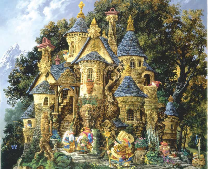 College of Magical Knowledge Castles Jigsaw Puzzle