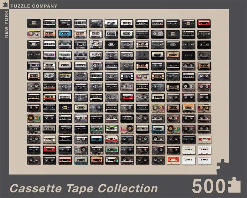 Cassette Tape Collection Collage Jigsaw Puzzle