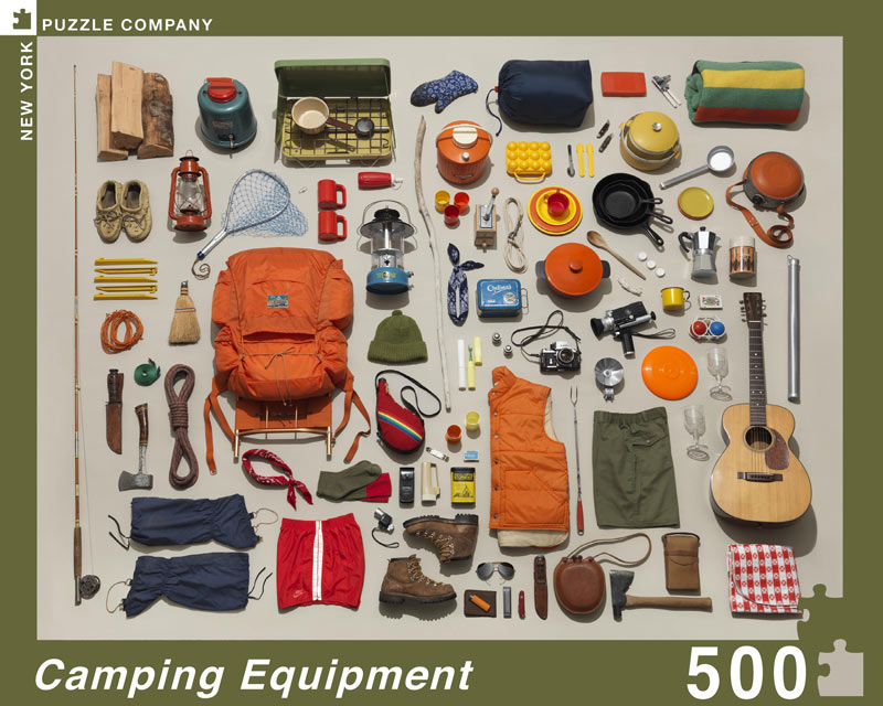 Camping Equipment Collection Everyday Objects Jigsaw Puzzle