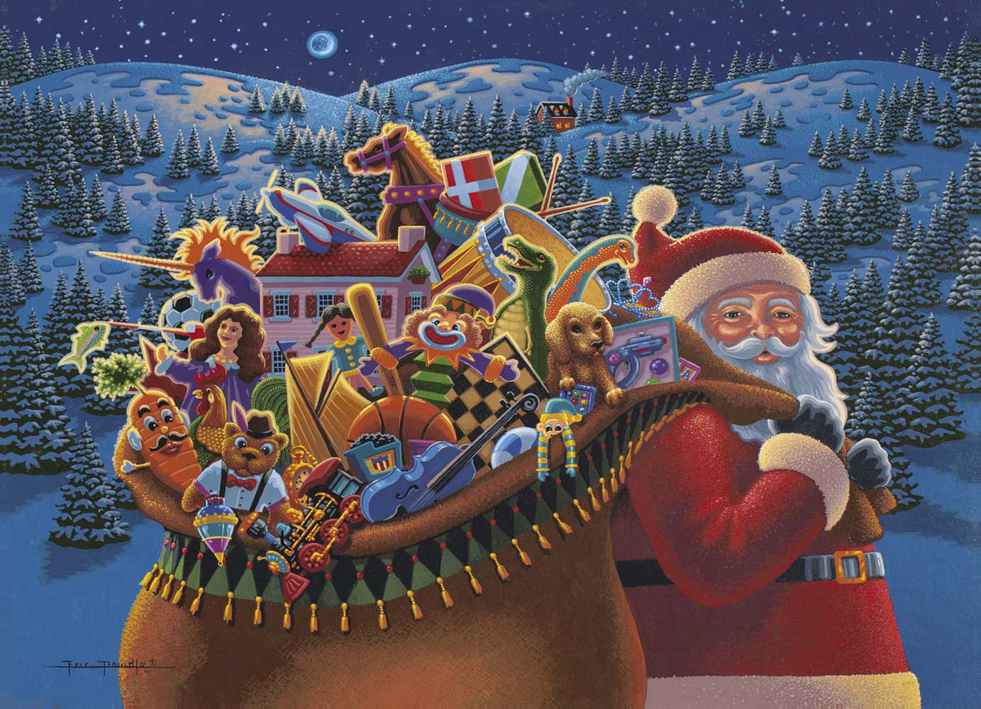 Christmas Delivery Santa Jigsaw Puzzle
