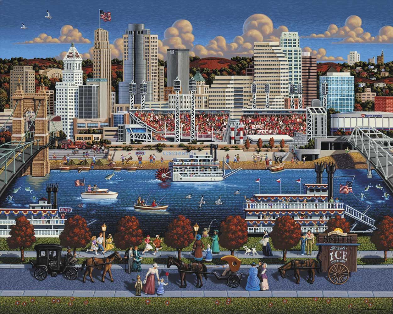 Cincinnati Skyline / Cityscape Jigsaw Puzzle