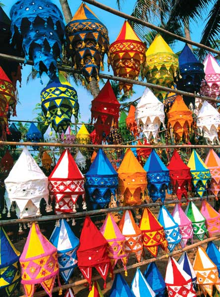 Colorful Cloth Lamps (Colorluxe) Cultural Art Jigsaw Puzzle