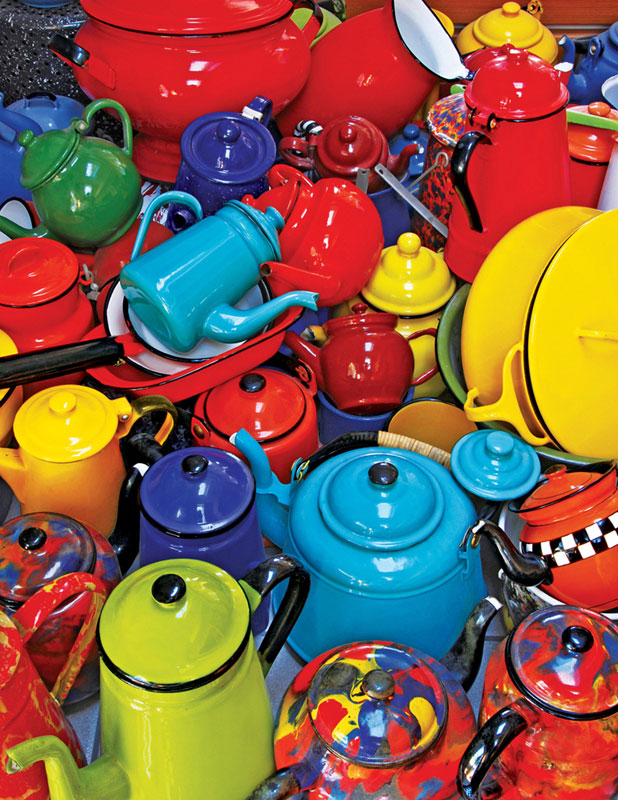 Colorful Kettles Everyday Objects Jigsaw Puzzle