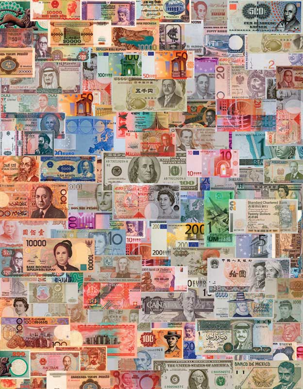 Color of Money Everyday Objects Jigsaw Puzzle