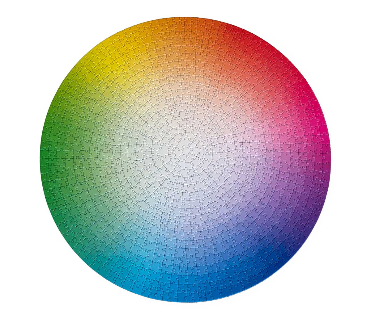 1000 Colours Wheel Graphics / Illustration Jigsaw Puzzle