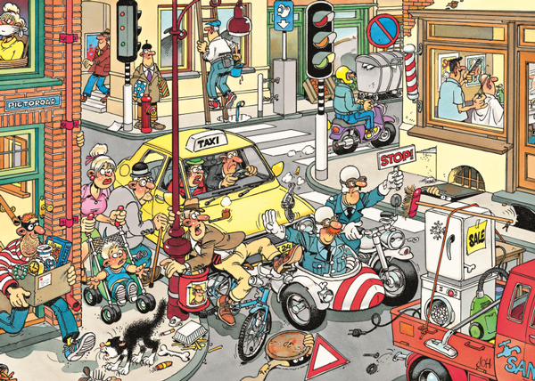 Coming Through - 150 Cartoons Jigsaw Puzzle