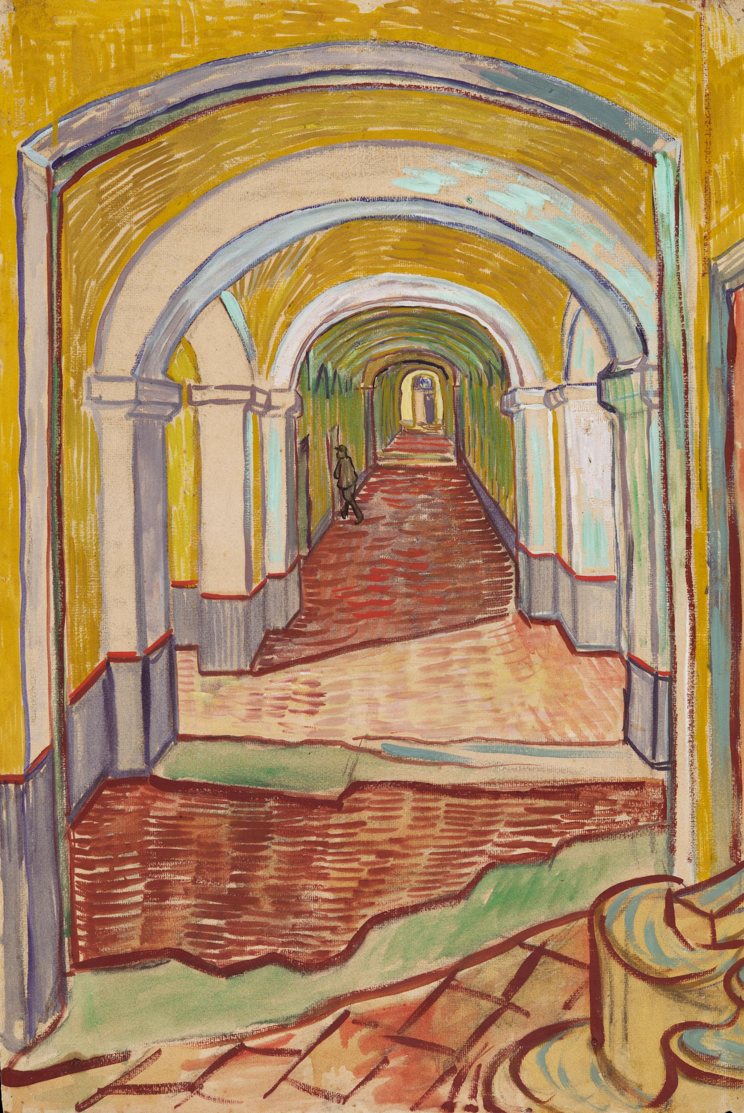 Corridor in the Asylum by Van Gogh Fine Art