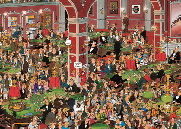 Crazy Casino - 1000, Limited Edition Cartoons Jigsaw Puzzle