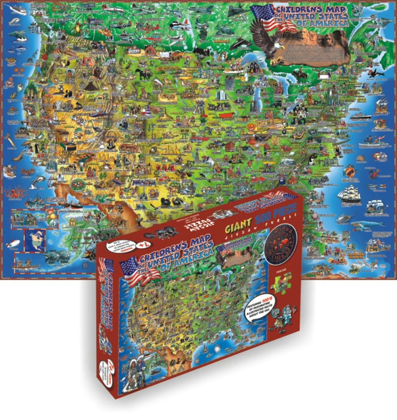 Dinos USA Childrens Puzzles PuzzleWarehousecom - Puzzle us map