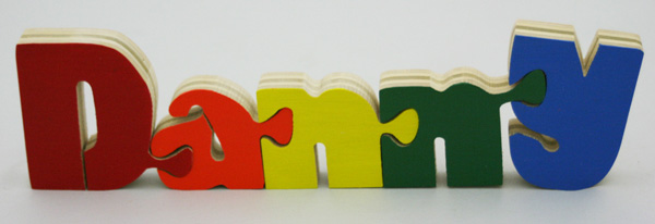 Danny BB Wooden Name Puzzle