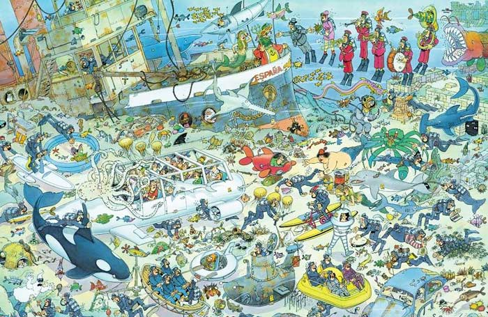 Deep Sea Fun - 1000 Cartoons Jigsaw Puzzle