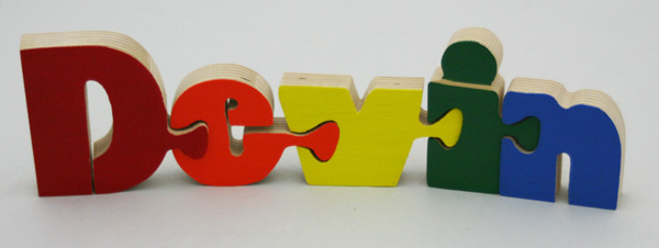 Devin BB Wooden Name Puzzle
