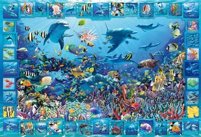 Dolphin Kingdom Dolphins Jigsaw Puzzle