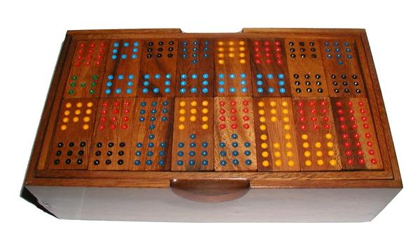Dominoes - Double 12 w/ Handcrafted Box Game