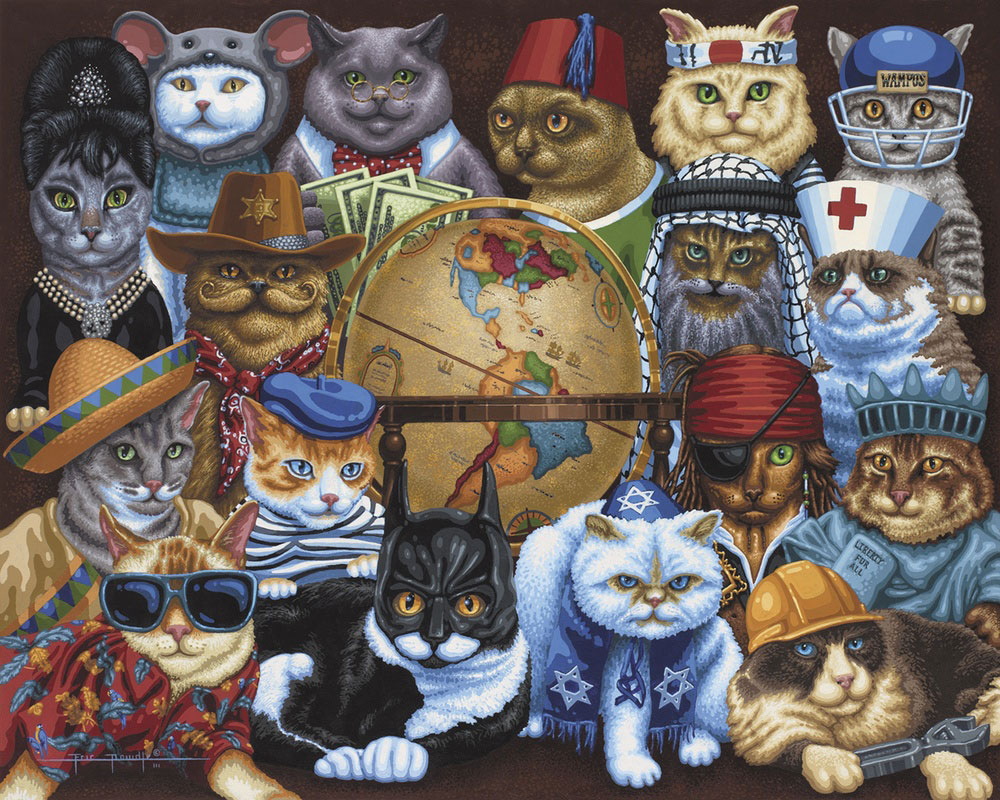 Cats Around The World Cats Jigsaw Puzzle
