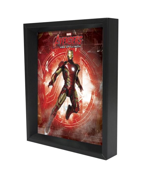 Iron Man - Age of Ultron - Log Shadowbox Movies / Books / TV