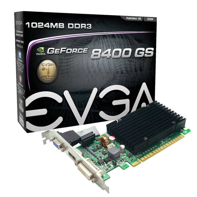 EVGA nVidia GeForce 8400GS 1GB DDR3 VGA/DVI/HDMI PCI-Express Video Card