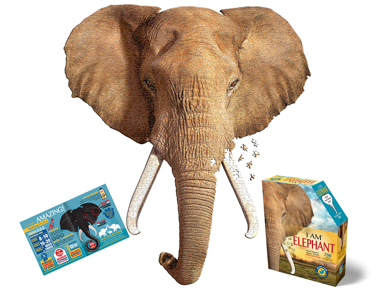 I Am Elephant Wildlife Shaped Puzzle
