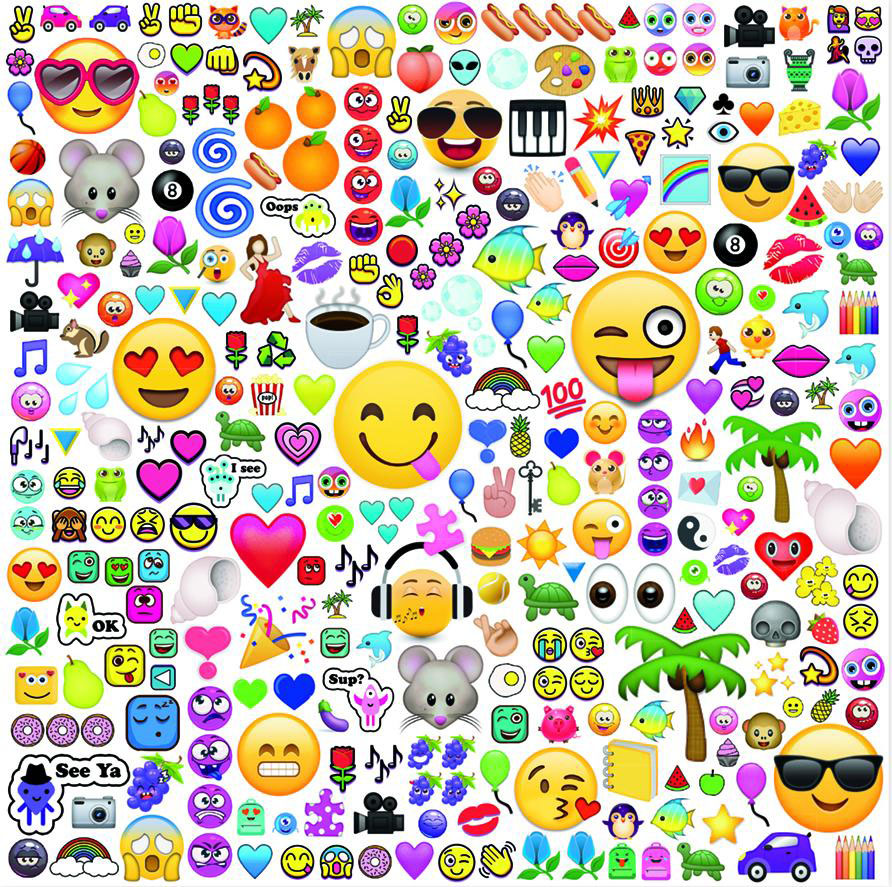 Partytime (300 Piece Oversized EMOJI) - Scratch and Dent Graphics / Illustration Jigsaw Puzzle