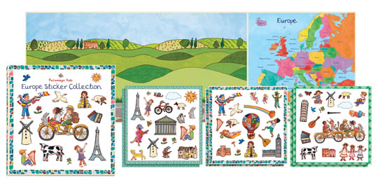 Europe Sticker Collection Travel Activity Books and Stickers