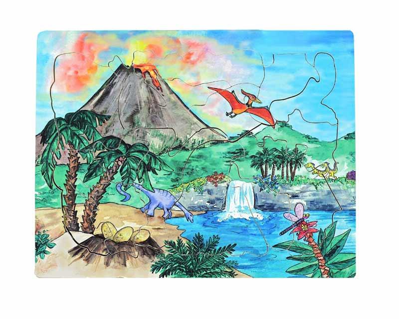 Dinosaur Volcano Dinosaurs Tray Puzzle