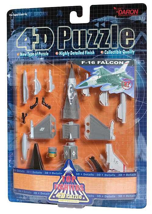 4D Puzzle - F-16 Falcon Space 3D Puzzle