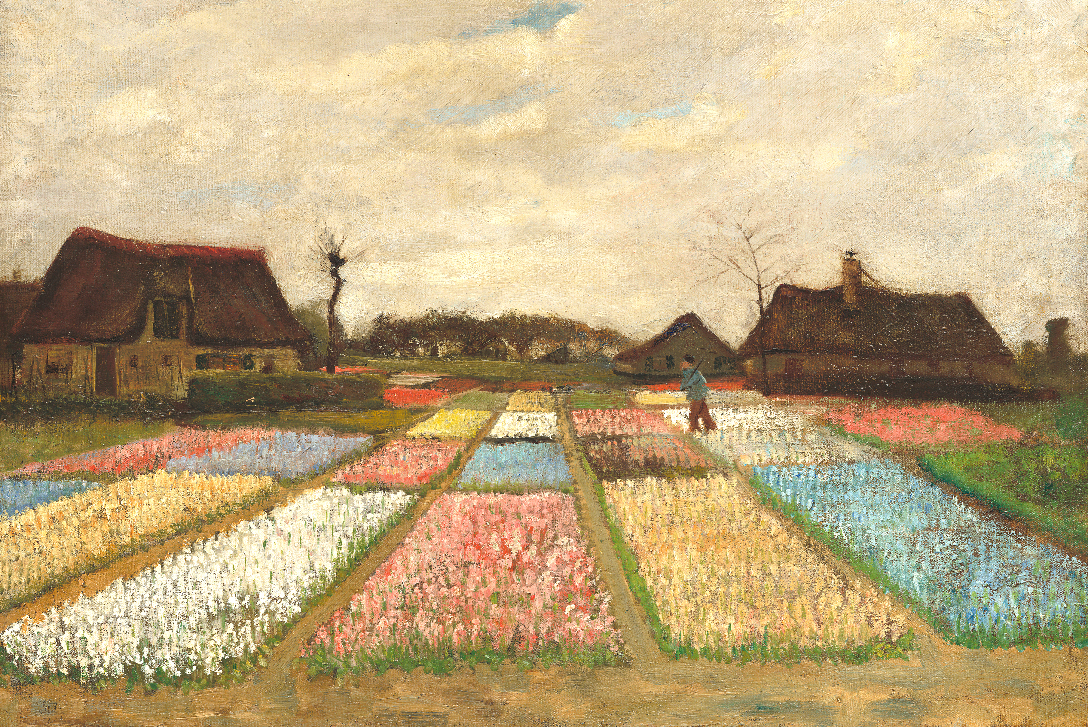 Flower Beds in Holland by Van Gogh Fine Art