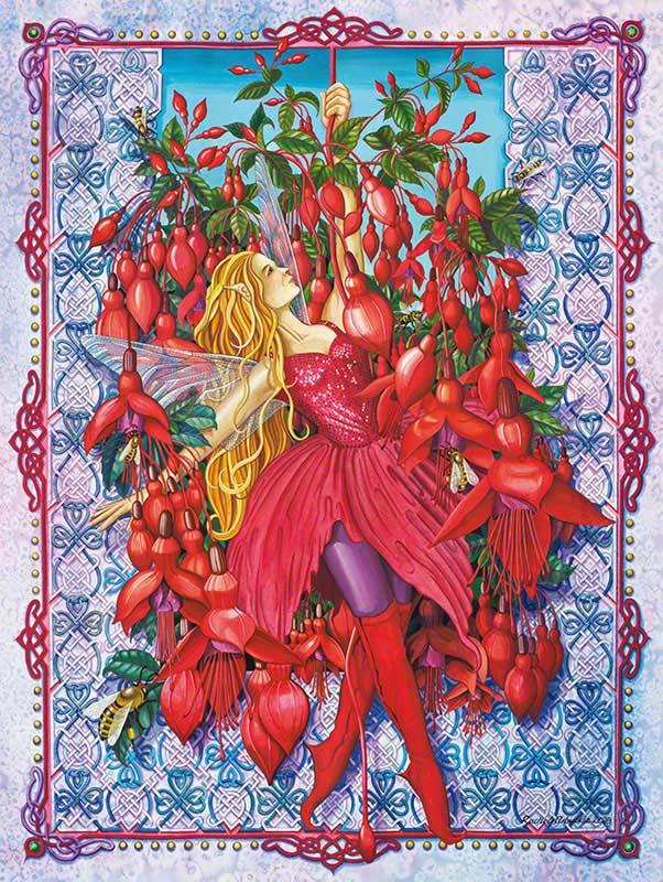 Fuchsia Faerie Fairies Jigsaw Puzzle